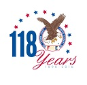 118 anniversary eagles logo